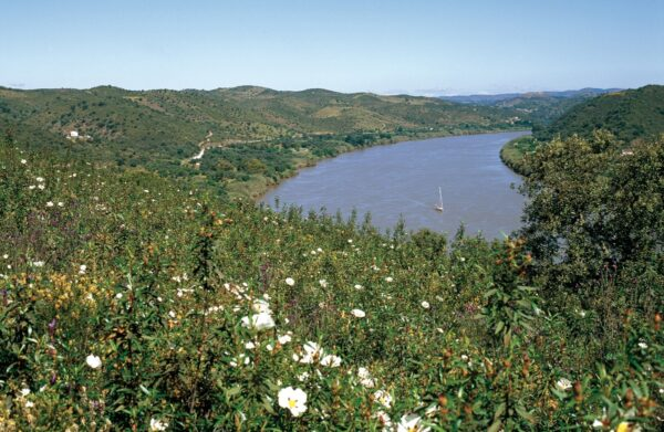The Guadiana River separates Portugal from Spain